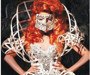 fashion, haute couture, and mask image