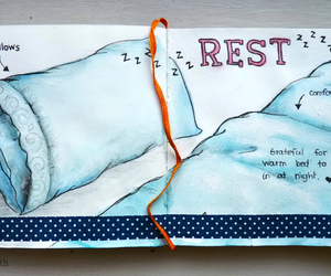 gratitude, illustration, and pillows image