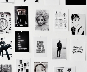 audrey, Collage, and black and white image