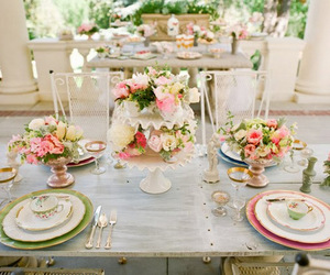 dining, party, and table setting image