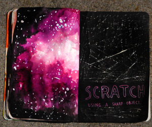wreck this journal and galaxy image