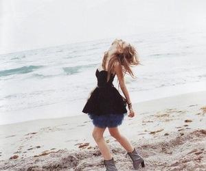 beach, girl, and dress image