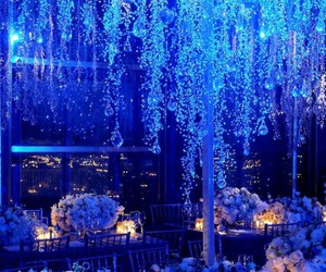 flowers, blue, and wedding image