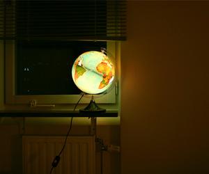 light, dark, and globe image