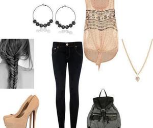 heels, moda, and outfit image