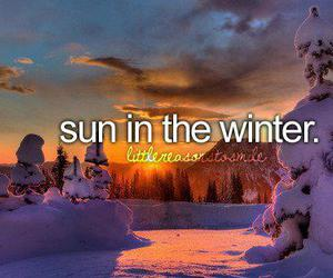 sun and winter image