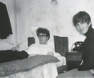 george harrison, john lennon, and ringo starr image