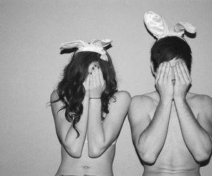 aw, boy, and bunny image