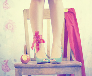 shoes, apple, and chair image