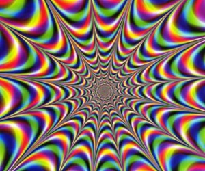 colorful, optical illusion, and movement image