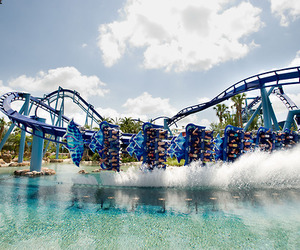 fun, water, and Roller Coaster image