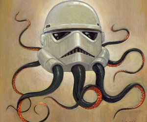 octopus, star wars, and storm trooper image