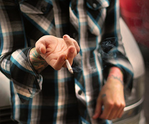cigarette, tattoo, and boy image