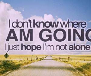 quote, alone, and hope image