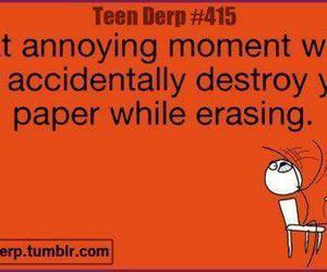 erasing, i hate it, and meme image