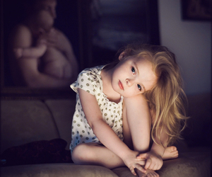 alone, blonde, and child image
