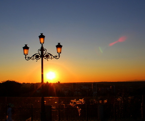 madrid, spain, and sunset image