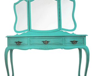 dressing table and vintage image
