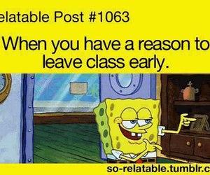 funny, school, and spongebob image