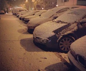 car, outside, and winter image
