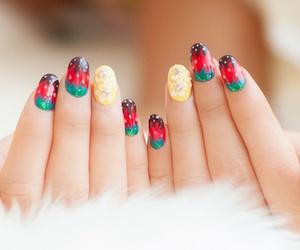 nails, beautiful, and green image
