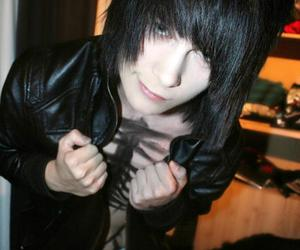 emo, boy, and hair image