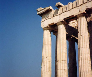 architecture, Athens, and ruins image
