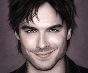 drawing, ian somerhalder, and the vampire diaries image