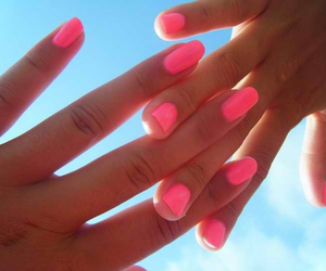 blue sky, girl, and hand image