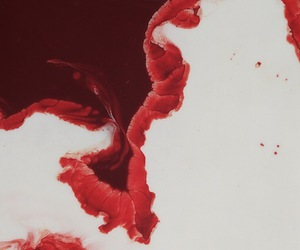 art, red, and blood image