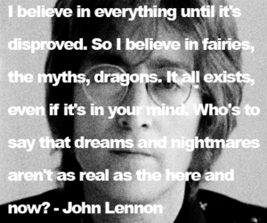 john lennon, quote, and the beatles image