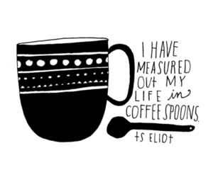 coffee, life, and spoons image