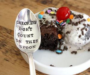 food, calories, and spoon image