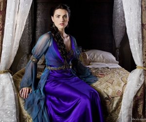 dark blue, dress, and merlin image