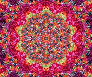 illusion, mandala, and pink image