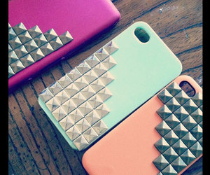 iphone, studs, and cute image