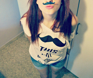 adorable, moustache, and shirt image
