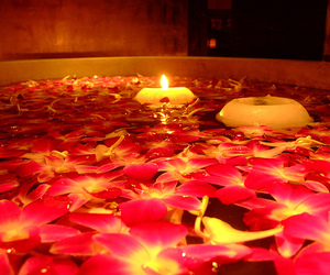 candles, flowers, and romantic image