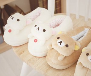 kawaii, rilakkuma, and slippers image