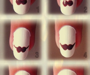 nails, mustache, and tutorial image