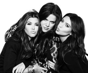 kim kardashian, sisters, and khloe kardashian image