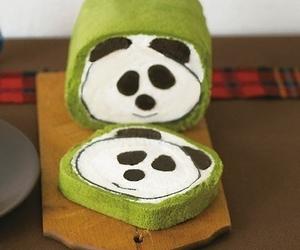 panda, cake, and cute image