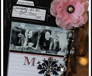 diary, flower, and memories image