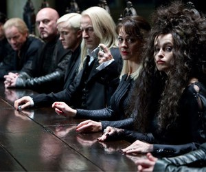 harry potter, bellatrix lestrange, and draco malfoy image