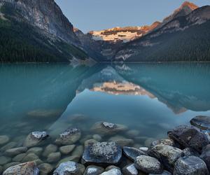 blue, lake louise, and photography image