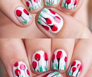 flower, nail art, and nailpolish image