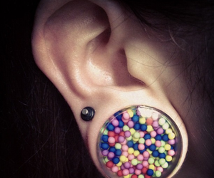 ear, piercing, and colors image