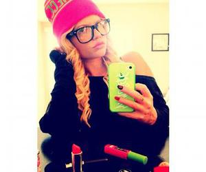 beanie, fashion, and glasses image