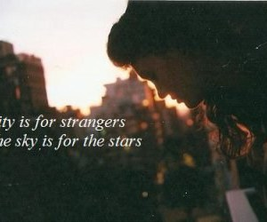 city, quote, and stars image