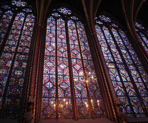 paris, stained glass, and sainte-chappelle image